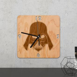 """Настенные часы из древесины """"Star wars """""""