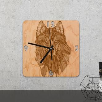 Настенные часы из древесины «Wolf»