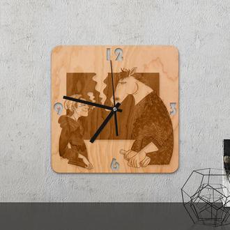 Настенные часы из древесины «Horse bojack»