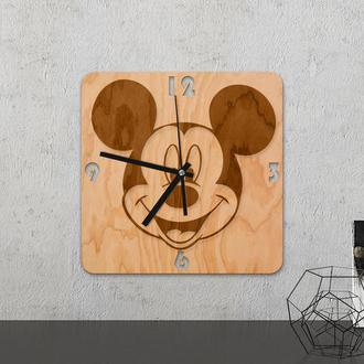 Настенные часы из древесины «Mickey mouse»