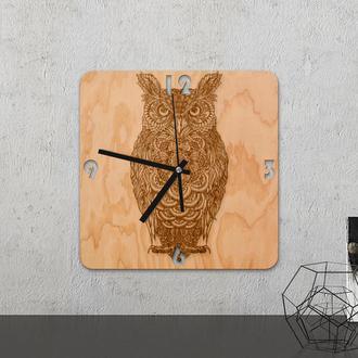 Настенные часы из древесины «Owl»
