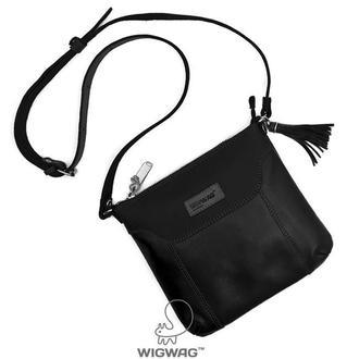 Женская кожаная сумка черного цвета небольшого размера