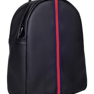 Модный вместительный женский рюкзак черный