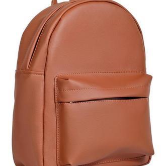 Удобный женский рюкзак коричневый