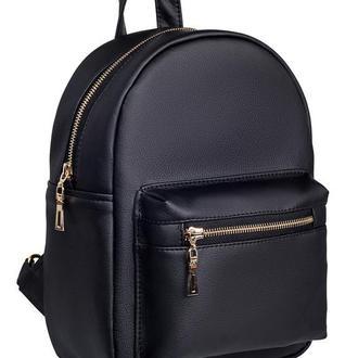 Красивый удобный женский рюкзак черный