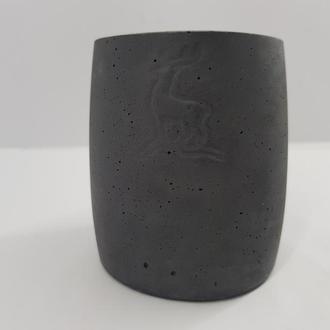 стакан из бетона,  в стиле Loft, с вашим логотипом.