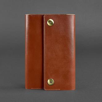 Кожаный блокнот (софт-бук) 5.0 коньяк