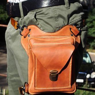 Набедренная сумка, поясная сумка, сумка на ногу, сумка трансформер