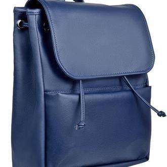 Удобный женский вместительный синий рюкзак