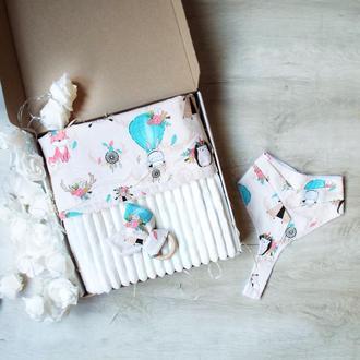 Подарочный набор для ребенка от 0 лет на выписку, крещение, год..