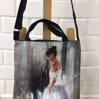 сумка с изображением репродукции картины «Перед выходом» талантливого художника