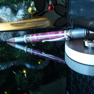 Ручка из стабилизированого капа клена, подарочная.