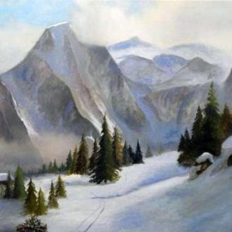 Картина маслом «Горный пейзаж»