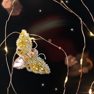 Брошь бабочка мотылек