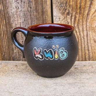 Чашка Киев 180 мл. черное