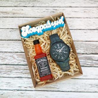 """Набор мыла """"Поздравляю"""" (Виски+часы)"""