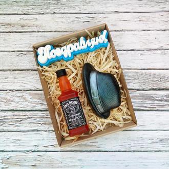 "Набор мыла ""Поздравляю"" (Виски+шляпа)"