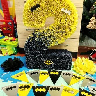 Цифра 2 два в стиле бэтмен -  это отличный подарок на день рождения мальчику, девочке