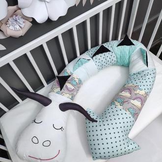 Подушка-обнимашка, позиционер, бортик в кроватку, подушка-сплюшка, интерьерная подушка