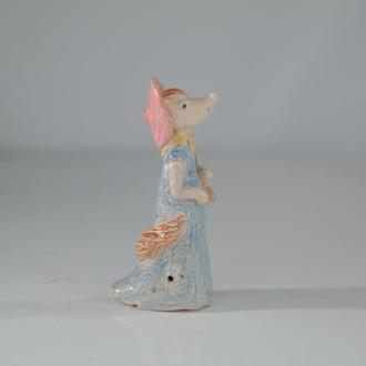 Свистулька Лиса Алиса,сувенір-свисток,керамика,ручная работа,handmade