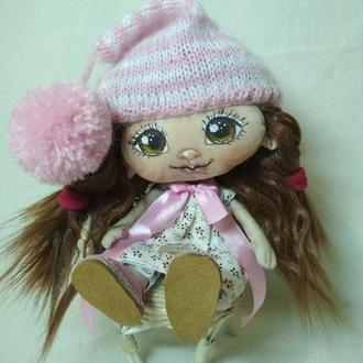 Текстильная кукла Гномочка