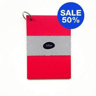 Блокнот / Скетчбук с черными листами / с чистыми листами RED SKETCHBOOK (RS) BLACKPAGES
