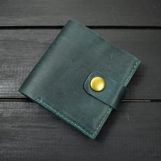 """Кожаный кошелёк """"Кнопка"""""""