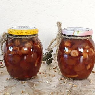 Варенье черешневое с фундуком и лимоном, без косточки, 350мл