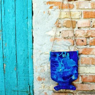 Валяная сумка Хвост русалки
