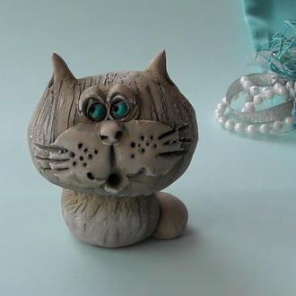 Фигурка кот керамический