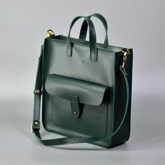 Рюкзак шоппер Flagman зеленый