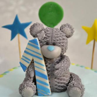 Фигурка на торт из марципана. Мишка Тедди