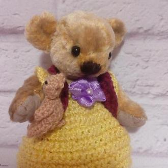 Ведмедик. Іграшка ведмедик. Ведмедик Тедді. Плюшевий ведмедик