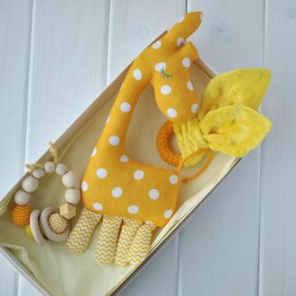 """Набір дитячих іграшок """"Жирафка та гризунці"""", Іграшки для дітей, Подарунок на хрестини"""