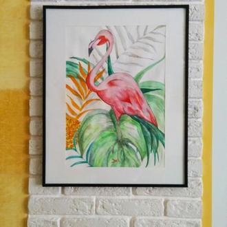 Картина с птицами