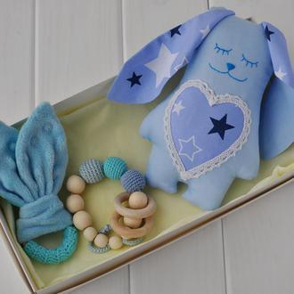 """Подарунковий набір іграшок для дитини """"Зайчик + гризунці"""""""