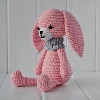 Іграшка ручної роботи, Іграшка зайчик, Игрушка для детей, Вязані іграшки