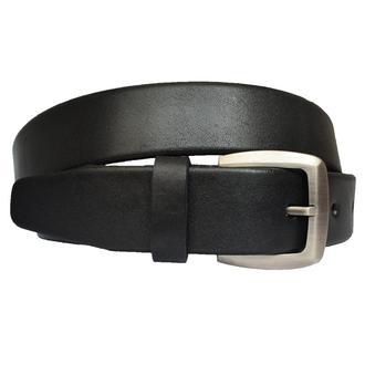 Plain классический мужской брючный кожаный черный ремень кожанный пояс