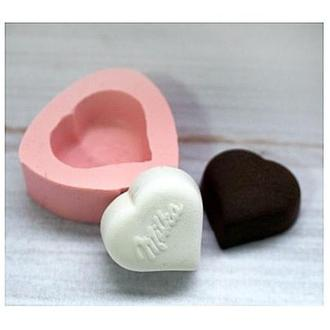 Молд силиконовый Конфета Milka сердечко