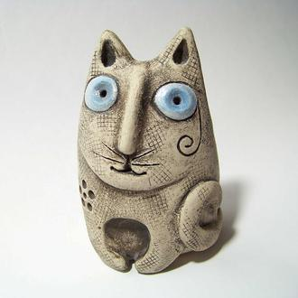 Кот с голубыми глазами.