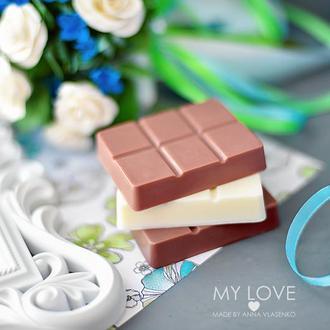Сувенирное крафтовое мыло Сладости Шоколадка