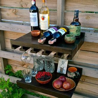Набор полок из дерева для домашнего бара Wine & Whiskey Party
