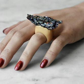 Кольцо  с камнем, ковеллином, Украина