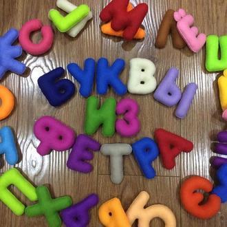 Алфавит, буквы, из фетра