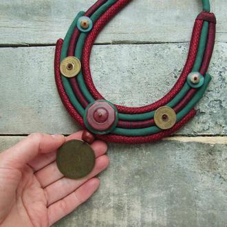 Шелковое мягкое ожерелье В ожидании