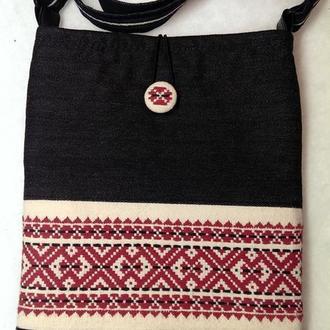 Сумка торба с вышивкой
