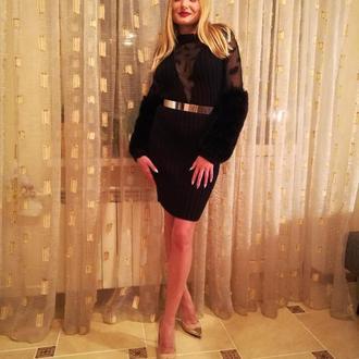 Платье черное   вязка от Bonnyolly