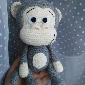 Детская мягкая,  вязанная игрушка Обезъяна
