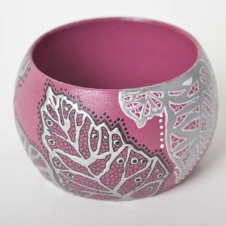 Браслет «Фиолетовые листья»