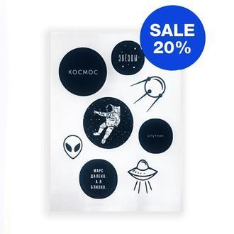 Наклейки Стикеры AIRAD STICKERS (S1) Бумажные наклейки Наклейки для блокнота Подарки для девочек